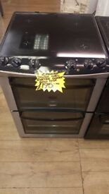 ZANUSSI 60CM CEROMIC TOP ELECTRIC COOKER IN SILIVER