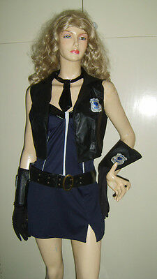 Ladies Naughty Cop Hot Police Woman Lady Sexy Fancy Dress Costume Uniform No hat