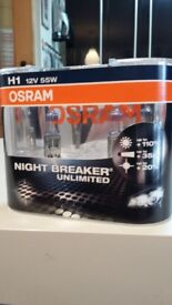 OSRAM H1 12V 55W NIGHT BREAKER UNLIMITED NEVER USE NEW BOX SEE ALL PICTURES