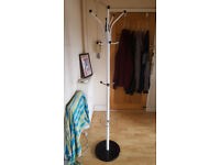 Coat and hat stand.