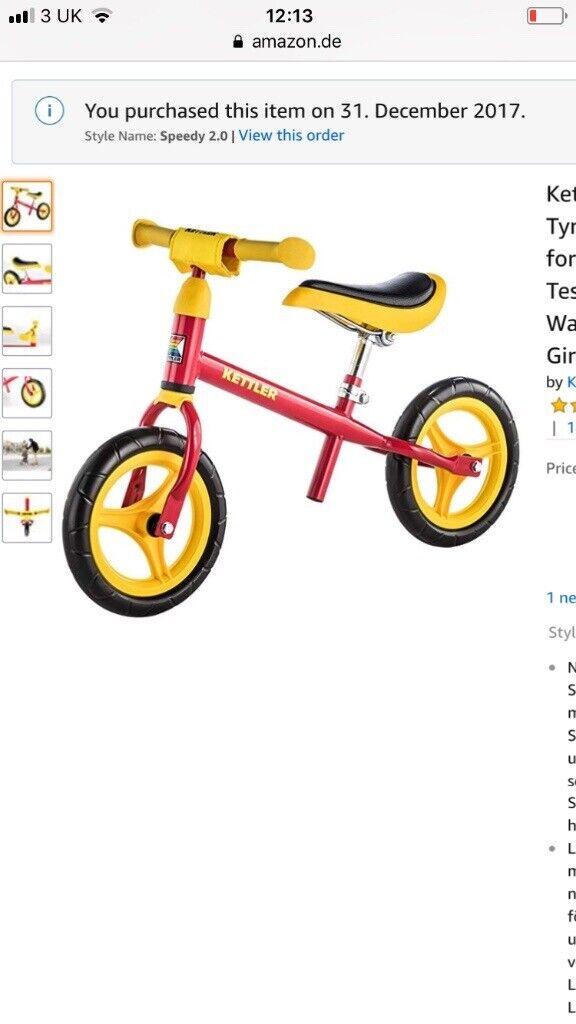 Kettler Balance Bike Never Used In Edinburgh Gumtree