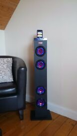 Tablet/phone Bluetooth Tower speaker,huge sound bar if used on its side!