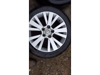 Mazda 4x Alloy 17'wheels with tyres