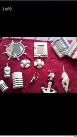 Nautical bathroom accessories. Excellent condition