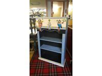 Childrens Vintage Bookcase With Toy Box 3D Clowns & Seal