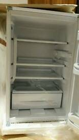 New Indesit integrated over counter fridge