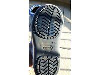 Crocs- Kids Crocband iridescent gust boot FOR BOYS- Navy/Blue Size: UK 13