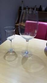 Large wine glasses/candle holders
