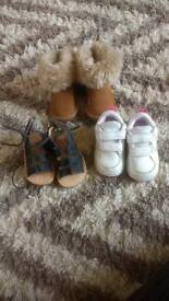 Size 4/5 baby girl shoes