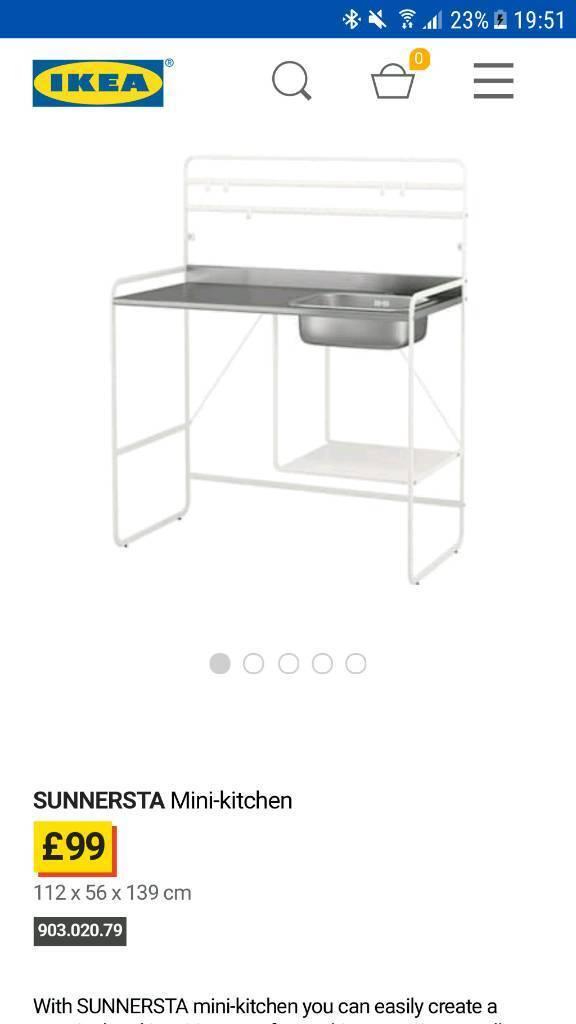 Ikea Sunnersta Mini Kitchen And Lillviken Water Trap Strainer 1 Bowl In Scotstoun Glasgow Gumtree