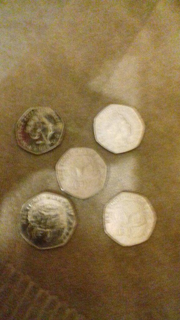 20 x Mrs Tiggy Winkle 50p coins