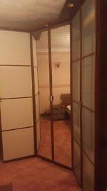 Ikea Hopen Corner wardrobe with mirrored doors