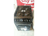 Hotpoint gas cooker 50cm new order in black