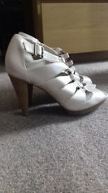 Nude/Blush Gladiator High Heel Shoes Sandals. Brand New
