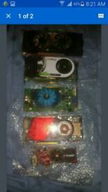 Job lot of graphics cards