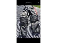 Hein gericke motor bike leather jacket and trousers