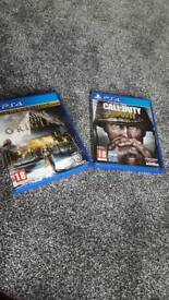 Assassins Creed Origins & Call of Duty WWII - PS4