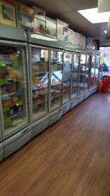 Twin door display fridges for sale