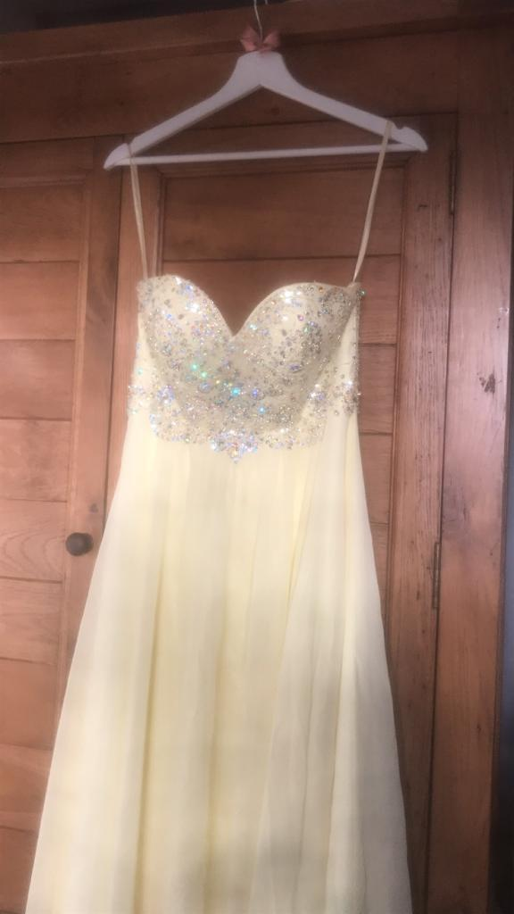 Illusion Pale Yellow Prom Dress In Truro Cornwall Gumtree