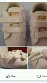 Brand new Adidas superstars size 2