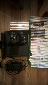 xbox 360 + 38 games and kinect