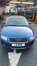 Audi A4 Diesel 2.5 Tdi Convertible Private Number plate Low mileage