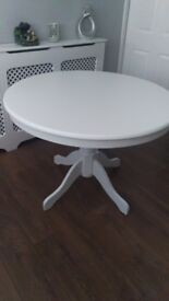 Brand new never used round white table