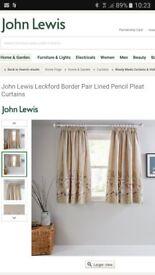 John Lewis Leckford ready made curtains