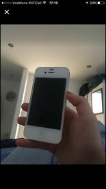 IPHONE 4s WHITE- UNLOCKED NO SCRATCHS OR MARKS