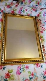 "Large 41.5"" x 30"" heavy john lewis mirror shabby chic morris mirrors"