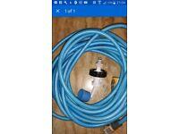 Aquaroll aqua roll mains adaptor and 7.5m food hose