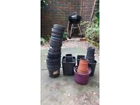 Plastic flowerpots, various sizes - free