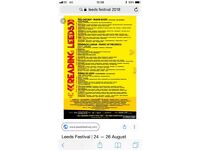 Weekend camping tickets for the leeds festival for sale