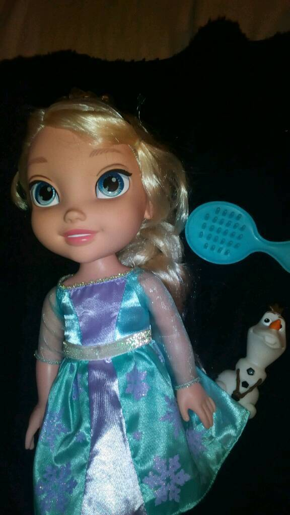 Princess frozen elsa doll with olaf