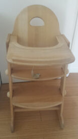 Wooden High Chair in Great Condition