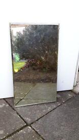 Antique bevelled mirror