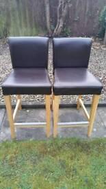 2 Ikea breakfast bar chairs/stools
