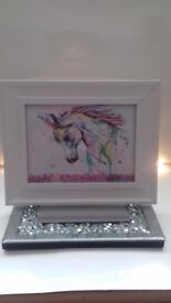 Unicorn Picture frame with sequins