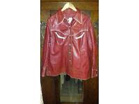 Vintage red leather jacket