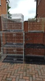 cages and beds