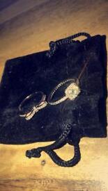 x2 Pandora rose gold rings
