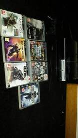 USED PLAYSTATION 3 PLUS 7 GAMES. COMPLETE WITH HD MINI CABLE AND ALL LEADS.