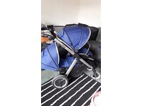 Oyster max 2 pram (navy,double)