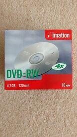 Imation DVD-RW 4X 4.7GB 10PK Jewel case