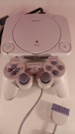 Original Sony PlayStation One - PS One Slim Slimline Console With One Controller