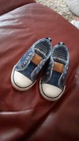 Girls denim trainers