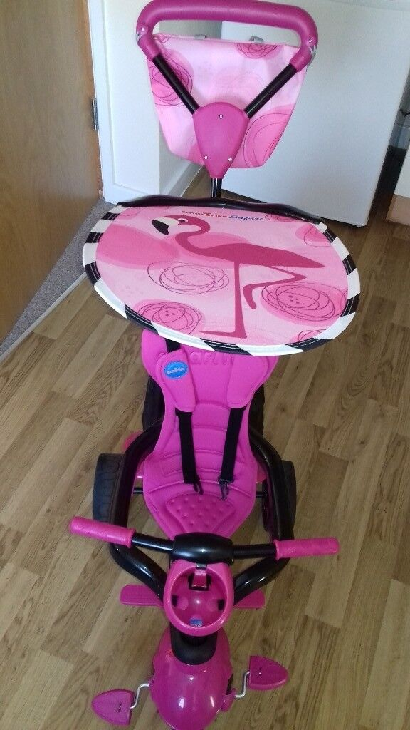 Toddlers pink trike from 10 months ti 3 years.