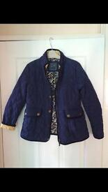 Next navy quilted jacket aged 9-10