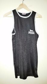 MUST GO | Lonsdale London Men's Black and White Vest | Size S | Used | Leeds