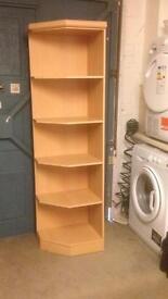 Pine corner shelf unit